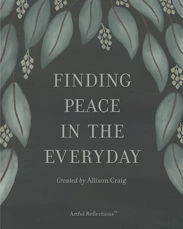 Finding peace in the everyday book cover