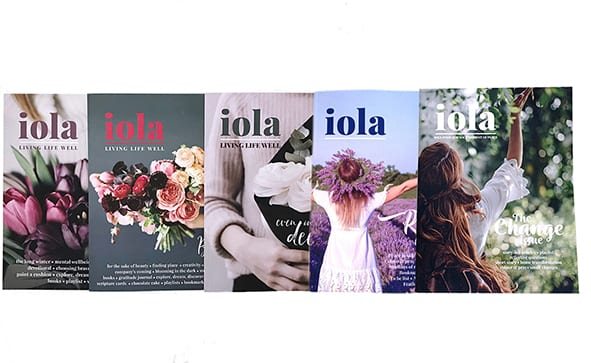 iola bookazine five covers